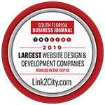 South Florida Business Journal 2019 Largest Website Design & Development Companies Ranked In the Top 10
